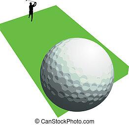golfer shooting three