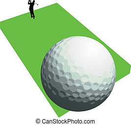 golfer shooting two vector