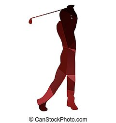 Golfer silhouette. Vector golf player