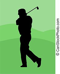 Golfer Silouette