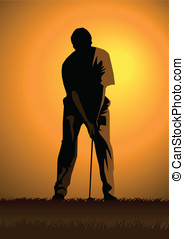 Golfer - Stock illustration of a golfer