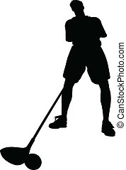 golfer vector silhouettes
