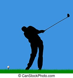 golfer with wrong adress