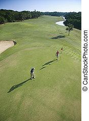 golfers., 航空写真