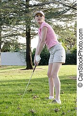 golfeur, dame