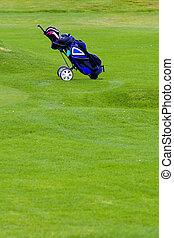 Golfi equipment - Golfing equipment in the bag over the ...