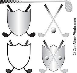 golfing, logos
