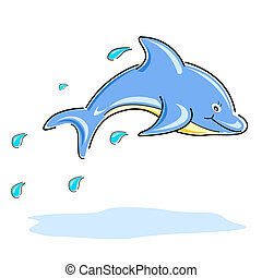 golfinho, feliz