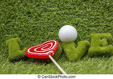 golfista, amore