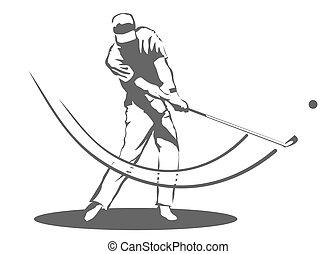 golfista, hombre