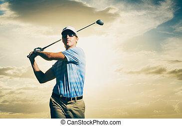 golfista, ocaso