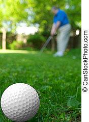 golfista, palla, golf