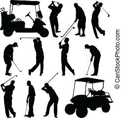 golfjátékos, gyűjtés