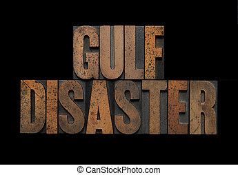 golfo, desastre, em, madeira, tipo
