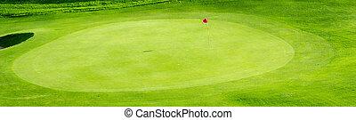 golfowa zieleń