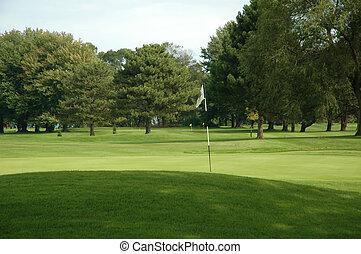 golfplatz, loch