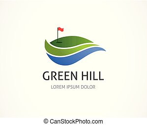 golfspel club, symbool, pictogram, logo, element