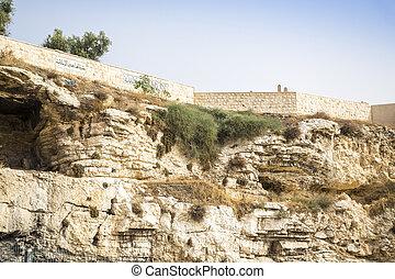 golghota, connu, comme, jardin, tombe, jérusalem, israël