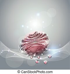 Golgi apparatus abstract background