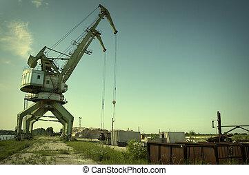 goliath, crane(special, photo, f/x, sur, les, crane)