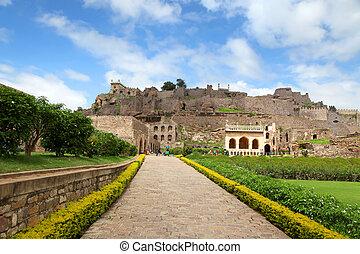 400 year old historic Golkonda fort in Hyderabad, India