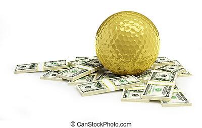 golld golf ball dollar