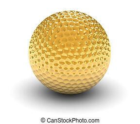 goloden, pelota, golf