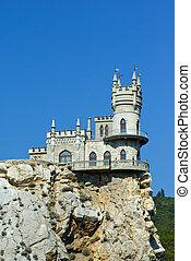 golondrinas, nido, castle.