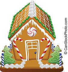 golosinas, casa de pan de jengibre