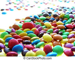 golosinas, colorido, chocolate