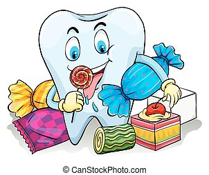 golosinas, diente