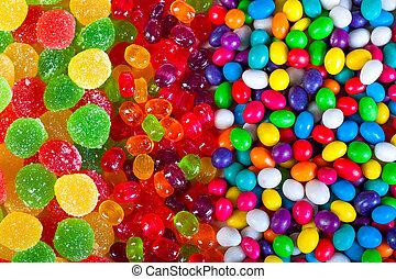 golosinas, dulces, plano de fondo, colorido, azúcar
