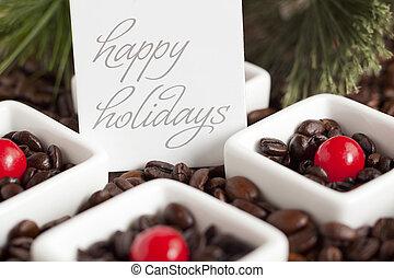 golosinas, granos de café, círculo, rojo