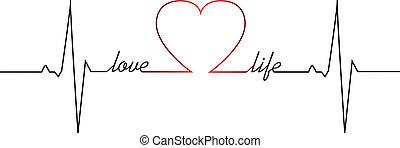 golpe, corazón, vida, amor