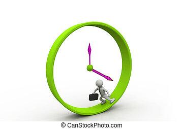 golpe, corra, tiempo, hombre, empresa / negocio