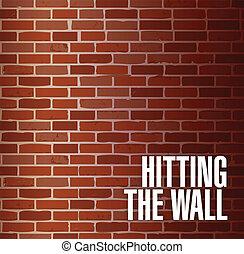 golpear, pared, concepto, ilustración