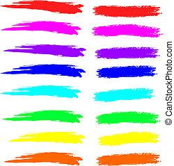 golpes, tiza, espectro, pintura