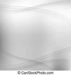 golven, achtergrond, zilver, abstract