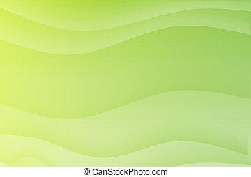 golven, groene, vloeiend, verzachtend