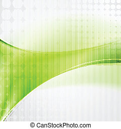 golvend, abstract, vector, technologie, achtergrond