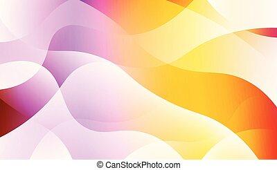 golvend, gradient., flyer, informatieboekje , websites, achtergrond., vector, ontwerp, illustratie, kleur, informatieboekje