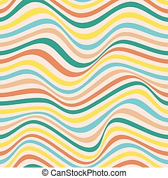 golvend, pattern., herhalen, kleurrijke, lijnen, seamless