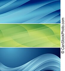 golvend, set, abstract, -, headers, vector