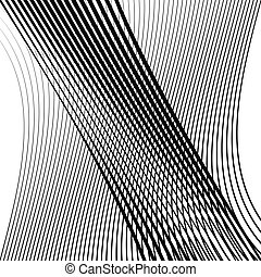 golvend, stroken, streaks., squiggle, pattern., zwaaiende ,...