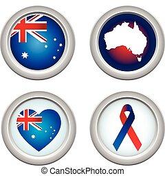 gombok, ausztrália