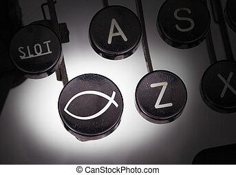 gombok, különleges, írógép