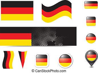 gombok, lobogó, németország