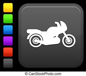 gombol, derékszögben, motorkerékpár, ikon, internet