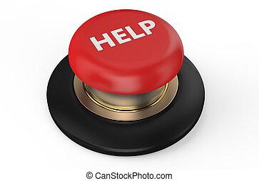 gombol, segítség, piros