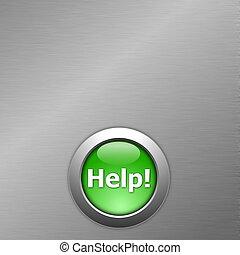 gombol, zöld, segítség